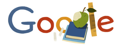 Google Logo: Dag van de leraar. Netherlands' teacher's day - 2012
