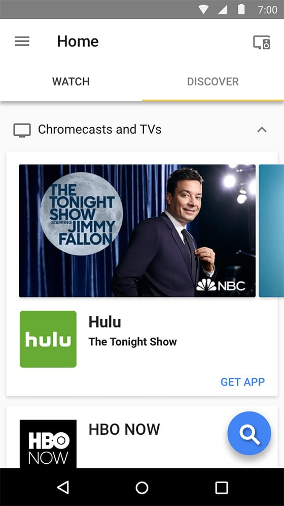Get tv app chromecast