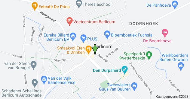 Kaart van Mercuriusplein 80, 5258 AW Berlicum