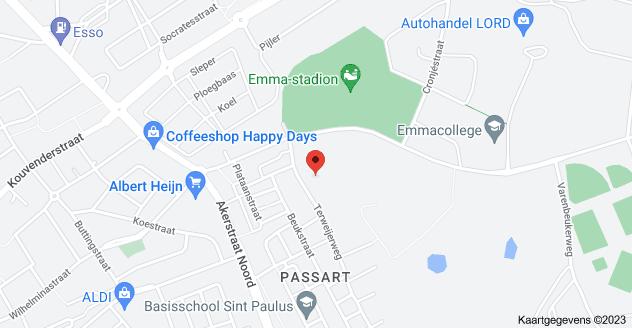 Kaart van Terweijerweg 11, 6413 PC Heerlen