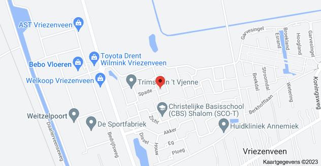 Kaart van Spade 29, 7672 AD Vriezenveen