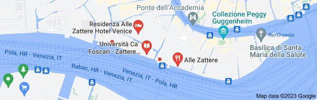 Map of Le Zattere venice
