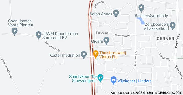 Kaart van Leemculeweg, Dalfsen