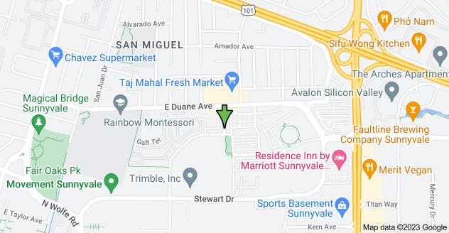 Map of 929 Deguigne Dr, Sunnyvale, CA 94085, USA