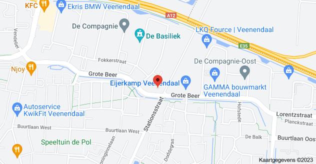 Kaart van Stationsstraat 51C, 3905 JH Veenendaal
