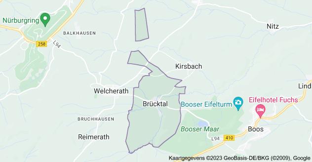 Kaart van Brücktal, Duitsland