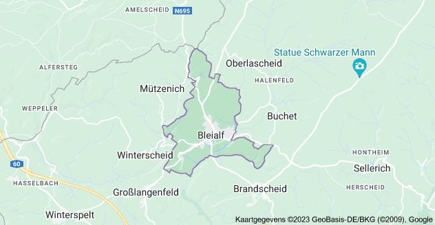 Kaart van 54608 Bleialf, Duitsland