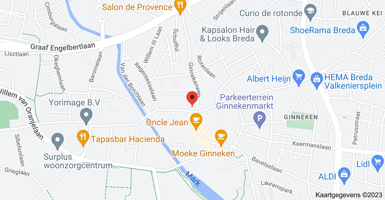Kaart van Ginnekenweg 310, 4835 NL Breda