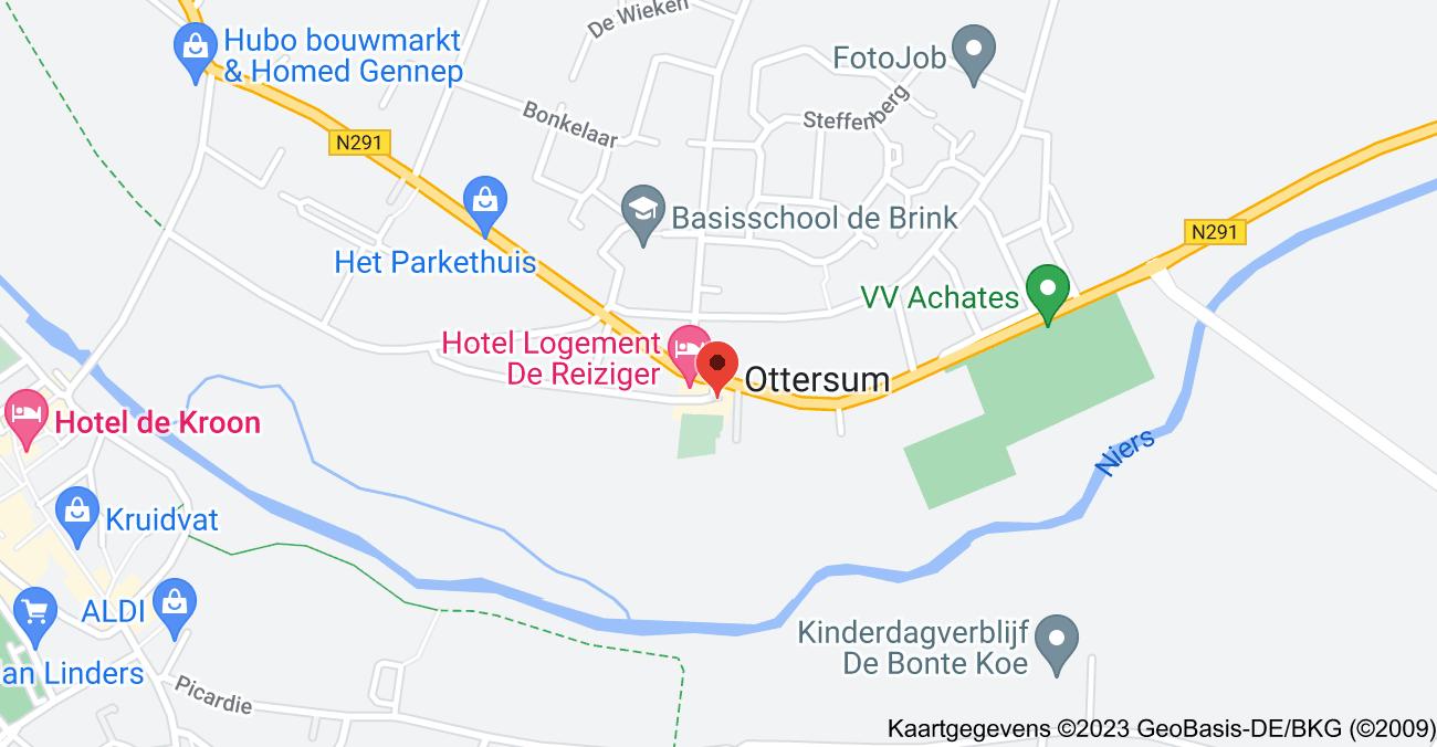 Kaart van Raadhuisplein 2, 6595 AK Ottersum