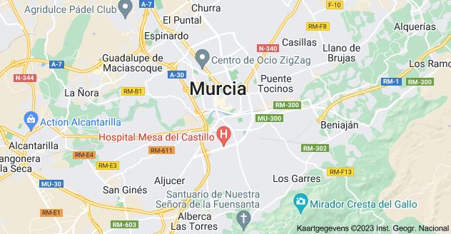Kaart van Murcia, Spanje